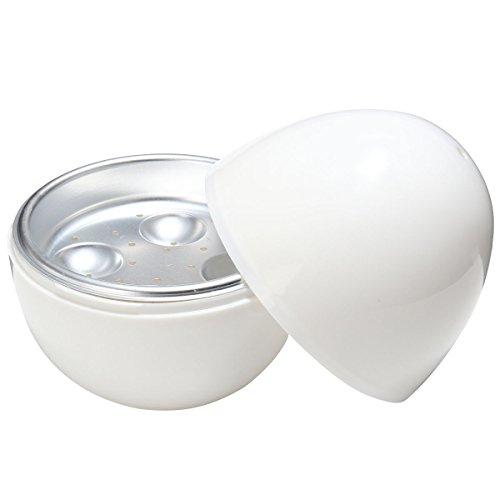 OUNONA Runde Form Mikrowelle Eierkocher Eierkocher Eier Boiler Dampfer Ei Platte Fach f¨¹r Zuhause mit 4 Ei Kapazit?t
