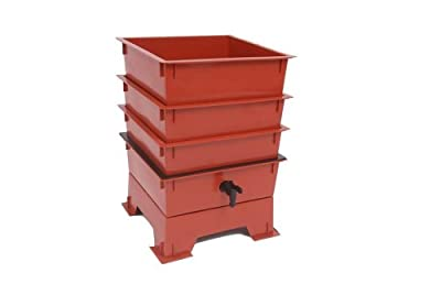 Worm Factory DS3BT 3-Tray Worm Composter, Black