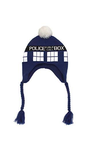 Doctor Who Tardis Laplander calotte bonnet chapeau