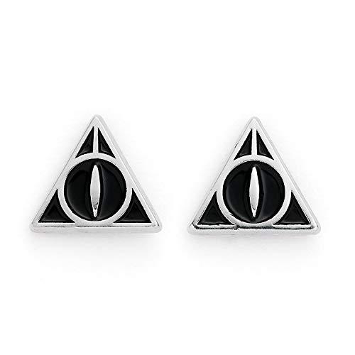 The Carat Shop Ohrstecker Harry Potter Heiligtümer des Todes versilbert, Schwarz