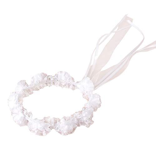 Viesky - Diadema de boda para niña, diseño de flores de