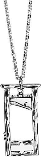 NC110 Collar de Guillotina de Estilo Retro Oscuro, Colgante de Guillotina de Acero de Titanio, Moda callejera para Hombres y Mujeres, Accesorios de tortura Punk YUAHJIGE