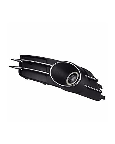 WWWFZS 1 par de Rejillas de luz antiniebla para Parachoques Delantero de Coche, Cubierta de lámpara antiniebla, Rejillas de Carreras, Abeto para Audi A6 C7 2011 2012 2013 2014 2015 4GD807681B