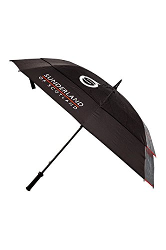 Sunderland Double Canopy Clearview Performance Golf Umbrella (68, Black)