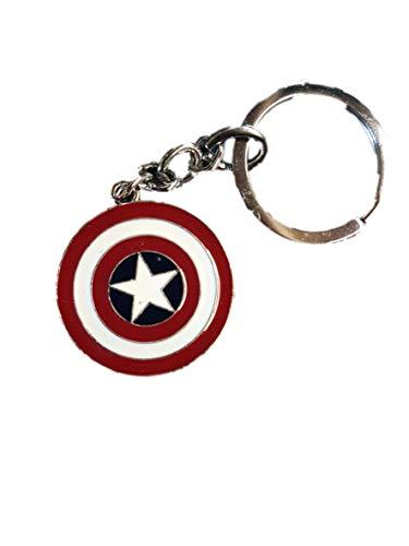 rouge captain america bouclier marvel superhéros Émail porte-clés métallique sac à main breloque fantaisie idée cadeau - par Fat-catz-copie-catz