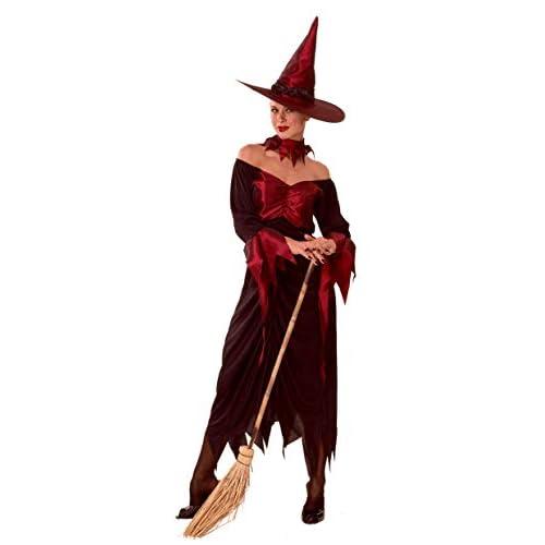 Ciao-Costume Strega Rossa, taglia unica adulto Donna, Rosso, 62002