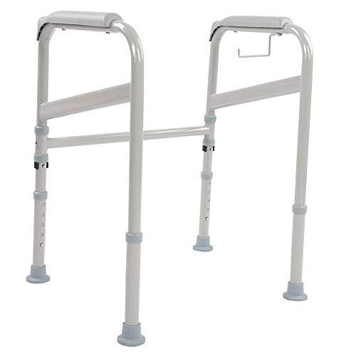 EBTOOLS Pasamanos de Seguridad para Inodoro Carril de Mano Ajustable Barra de Sujeción de Soporte de Inodoro Baño Ayuda para Discapacitados Embarazada Ancianos
