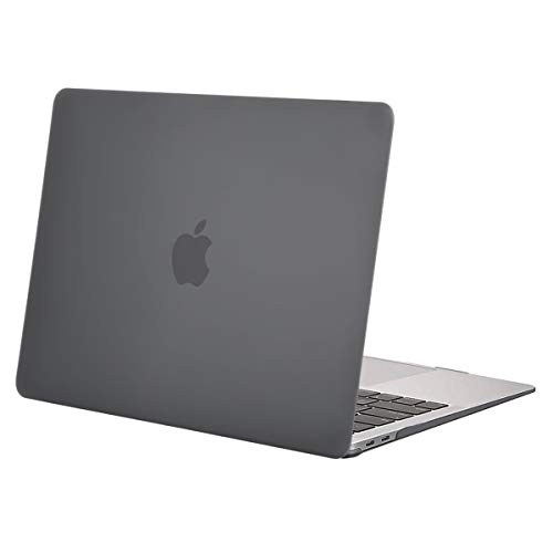 MOSISO Hülle Kompatibel mit MacBook Air 13 2020 2019 2018 A2337 M1 A2179 A1932 Retina Display, Plastik Hartschale Case Cover Nur Kompatibel mit MacBook Air 13 Zoll mit Touch ID, Grau