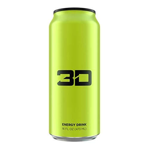 3D Energy Drinks 473ml X 12 Cans, Sugar Free, Low Calorie Energy Dink with Added B Vitamins (Grün (Gebirgstau))