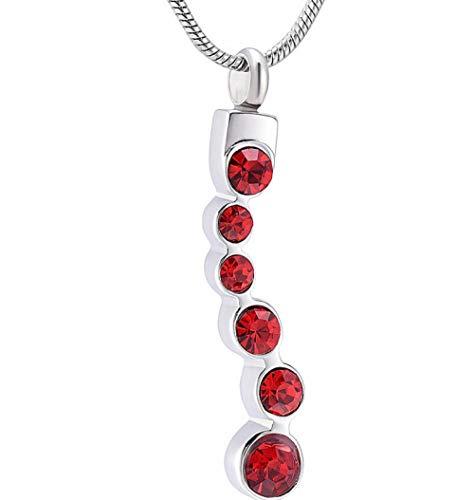 N / D Collar De Cremación Colgante de Collar de urna de cremación de Acero Inoxidable para Cenizas conmemorativas con joyería de Recuerdo