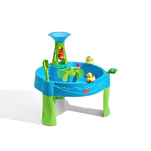 Step2 Duck Dive Table d'eau avec 6 Accessoires | Table de Jeu Enfant à Eau | Table d'activité pour Le Jardin en Bleu