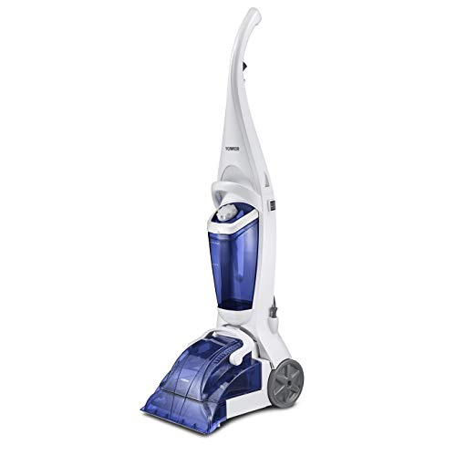 Tower TCW10 Carpet Cleaner, Carpet Washer Comes with 250 ml Carpet Cleaning Shampoo, 1.7 Litre Tank, 600 Watts, Washington Blue