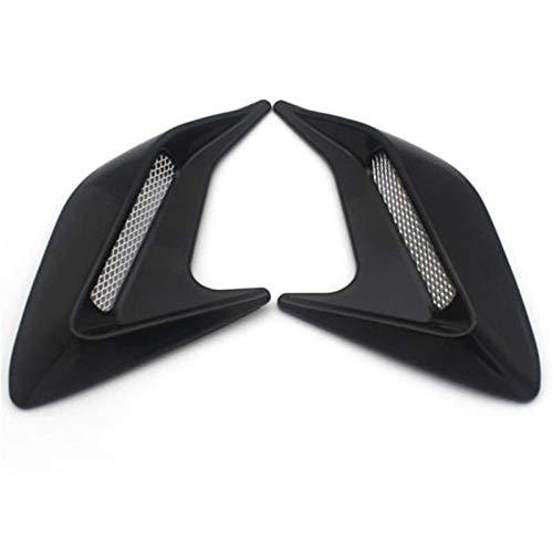 Admisión flujo aire decoración coche 2pcs de simulación de coches automático de ventilación laterales de flujo de aire de admisión Fender etiqueta lateral del respiradero del coche decorativo Fender e