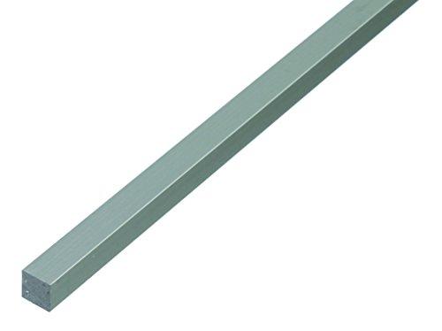 GAH-Alberts 473211 Vierkantstange - Aluminium, silberfarbig eloxiert, 1000 x 10 x 10 mm