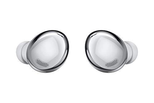 Samsung Galaxy Buds Pro, Kabellose Kopfhörer, Wireless Earbuds, ausdauernder Akku, 3 Mikrofone, Sound by AKG, 2-Wege-Lautsprecher inkl. Araree Clear Cover, Phantom Silver (Deutsche Version)