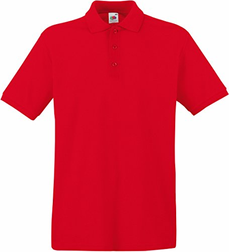 Fruit of the Loom Premium Polo Rot XL