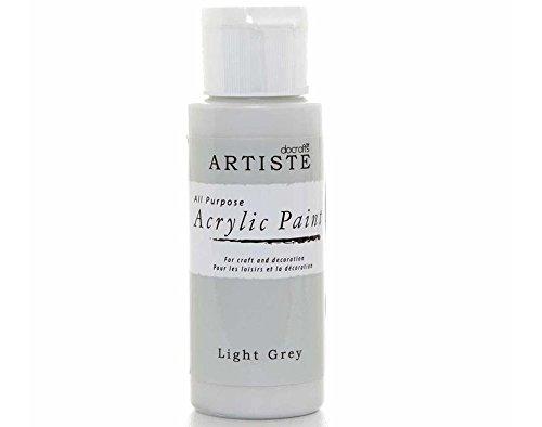 Docrafts - Artiste Acrylfarbe - Hellgrau (Light Grey)