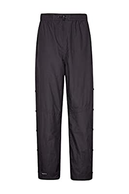 Mountain Warehouse Downpour Mens Waterproof Overtrousers - Breathable Rain Pants, Ripstop