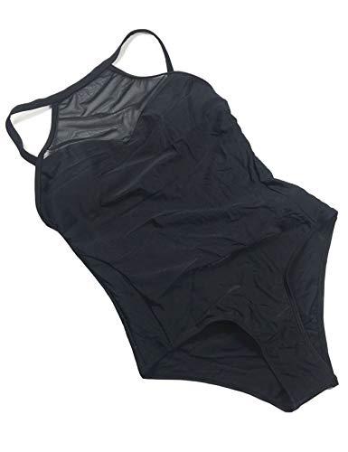Bestgift Bikini 1 Pièces Dos Ouvert Sexy Transparent Sport Beachwear Femme XS Noir