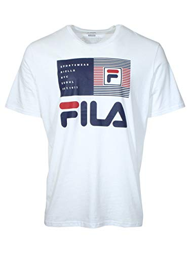 Fila Celso Graphic TEE LM913365 100 (M) White/Red/Blue