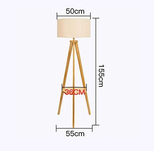 D02 Effen houten vloeren, Iving kamer Slaapkamer Slaapkamer Sofa Koffie Tafellampen Japans-Stijl Eenvoudige Moderne Nordic E27 * 1 Hout Kleur Hoog 155Cm Verstelbare Hoogte Afneembaar met Schakelaar Vloer