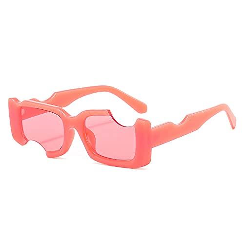 Gafas De Sol Hombre Mujeres Ciclismo Gafas De Sol Rectangulares Únicas De Moda Popular Gafas De Sol De Color para Mujer Gafas De Sol Cuadradas para Hombre-Pink_Pink