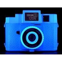 HolgaGlo 120N Plastic Lens Medium Format Camera, Electric Blue