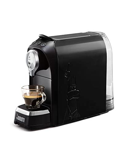 Bialetti Elettrico Super, Macchina da Caffè Espresso per Capsule in Alluminio sistema Bialetti il Caffè d'Italia, Nero