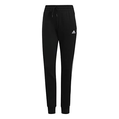 adidas Damen Essentials 3-Streifen SJ Hose, Black/White, XL