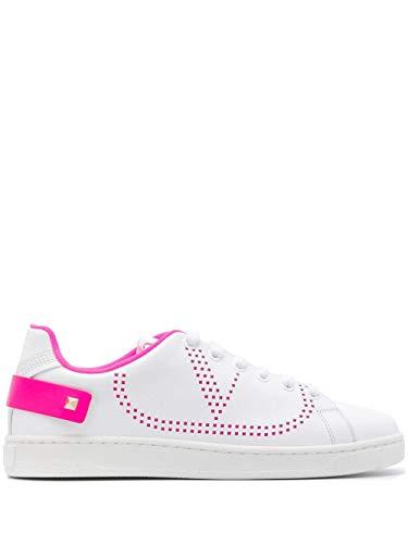 Luxury Fashion | Valentino Garavani Dames TW2S0M20MSSTD4 Wit Leer Sneakers | Lente-zomer 20