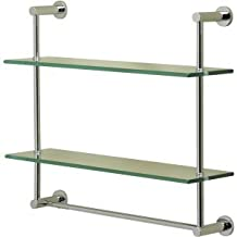 Valsan 57308NI Polished Nickel Essentials Two Tier Shelf with Towel Bar