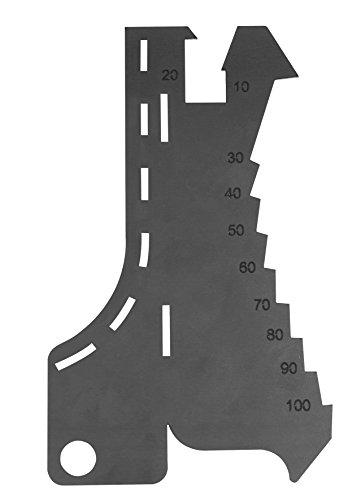 Stubai Anreißschablone mit Rundungsprofil 140x100 mm