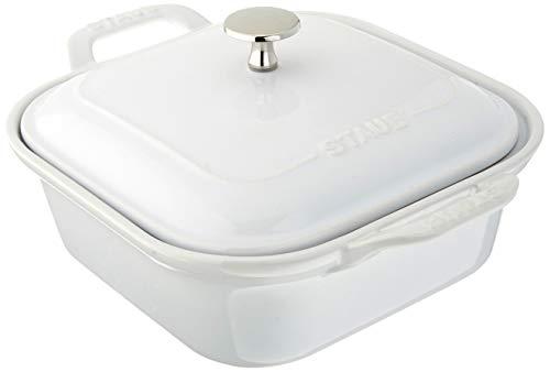 STAUB 40508-639 Ceramics Square Covered Baking Dish, 9x9-inch, White