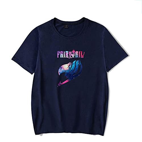 Novedad de Verano Camiseta para Hombre Unisex Moda Cosplay Hip-Hop Impresión 3D Anime Fairy Tail Camiseta Casual Todo fósforo O-Cuello Tops Camiseta-A_XXXL
