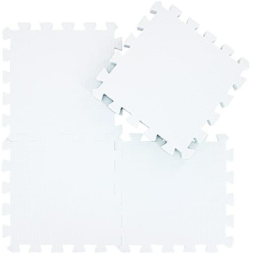 qqpp 25 Puzzle Bodenschutzmatte - Schutzmatte Set Puzzlematte Bodenschutz rutschfest Matte | Fitnessmatte Turnmatte Sportmatte Trainingsmatte Yogamatte | Spielteppich Baby | Sport Fitness. QQC-Ab25N