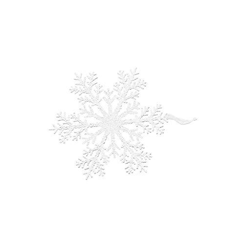 Snowflake Decoration Pendant Christmas Tree Party Festival Supplies 2PCS Home & Garden Home Decor