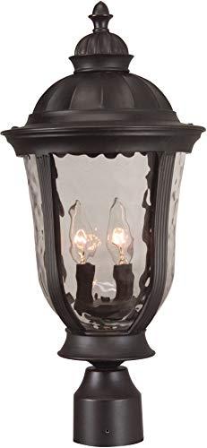 "Craftmade Z6025-OBO Frances Outdoor Pier Mount Post Lighting, 3-Light, 180 Watts, Oiled Bronze (12"" W x 24"" H)"