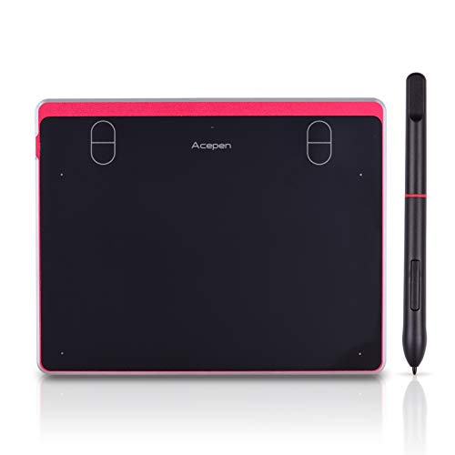 Aibecy Graphic Drawing Tablet 6 * 4 Inch Active Area with Battery-Free Passive Stylus 8192 Levels Pressure Compatible with Windows 10/8/7 & Mac OS & Android for Drawing Teaching Online Course