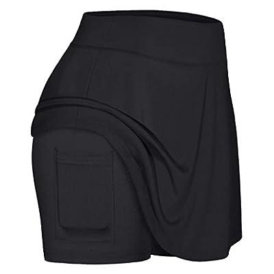 KANGMOON Women Tennis Skirts Inner Shorts Elast...