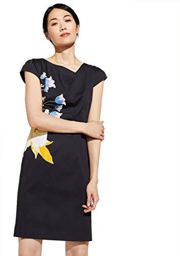 comma Damen 81.003.82.5380 Kleid, Mehrfarbig (59D2 Placed Spring), 38