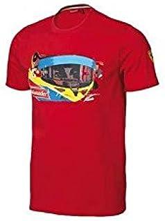 FERRARI Camiseta niño Visor Alonso Rojo Talla 14 años: Amazon.es: Deportes y aire libre