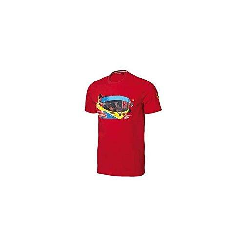 FERRARI Camiseta niño Visor Alonso Rojo Talla 12 años
