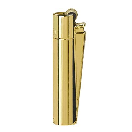 Clipper 1 Encendedor Mechero Clásico Largo Metal Gold Oro Dorado Brillante Pulido + 1 Llavero