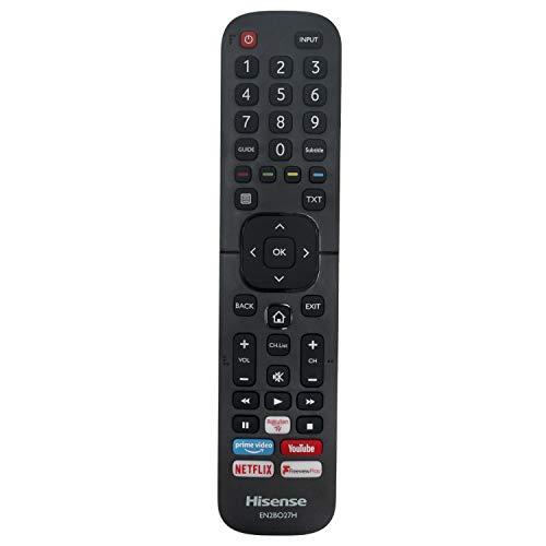 VINABTY EN2BO27H Telecomando adatto per Hisense Smart TV LED con Prime Video Netflix Youtube Freeview P