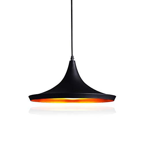 Lámpara de Techo Comedor Lámpara Colgante Retro Industrial 40W Lámpara Vintage Iluminación E27 Metal Sin Bombilla para Bar Restaurante Cocina, Negro,Tipo A
