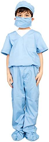 Doctor Scrubs Kids Blue Halloween Costume Set Personalized 8 9 product image