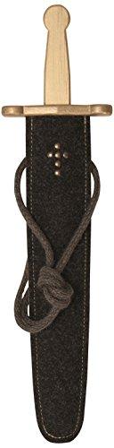 Stabiles Schwertset mit lackiertem Prunkschwert und Schwert-Scheide aus Filz, 48 cm Länge