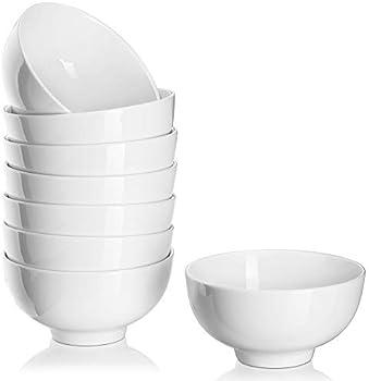 8-Pack DOWAN 10 Ounce Porcelain Dip Bowls