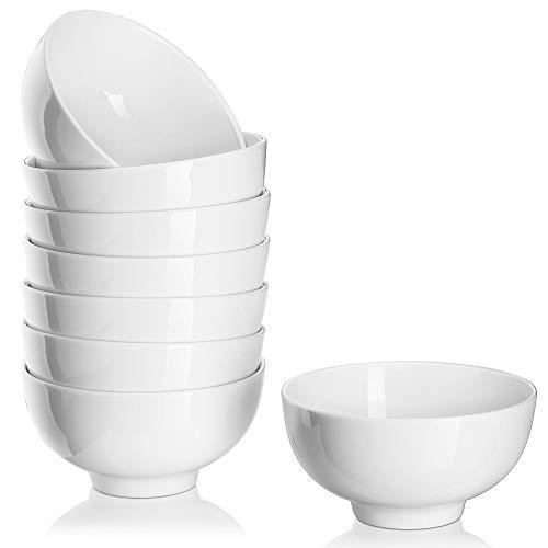 DOWAN 300ml Tazones de Postre de Porcelana, Sirviendo para Helado/Snack/Dip - Juego de 8, Blanco