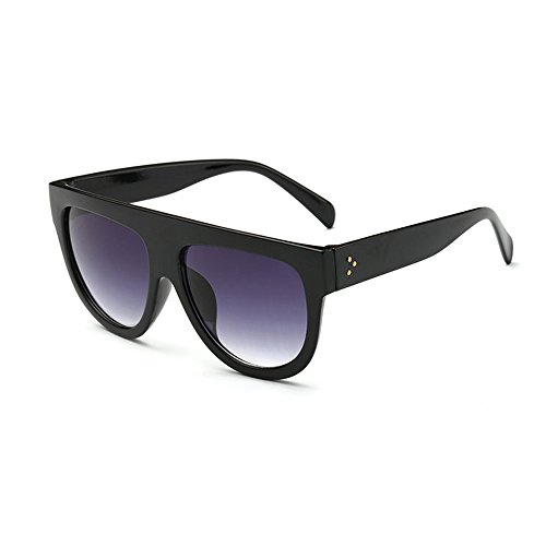 Dodo Shadow Shield Fliegersonnenbrille, flacher oberer Rand, sehr groß, Schwarz